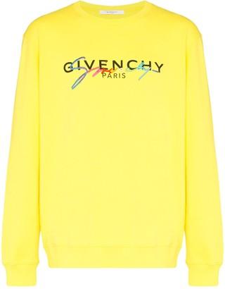Givenchy signature logo-embroidered sweatshirt