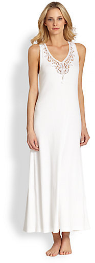 Oscar de la Renta Luxurious Comfort Long Gown