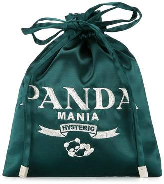 Hysteric Glamour Panda Mania drawstring clutch bag