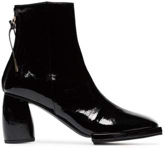 Reike Nen square toe patent leather ankle boots