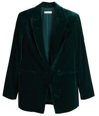 MANGO Velvet blazer
