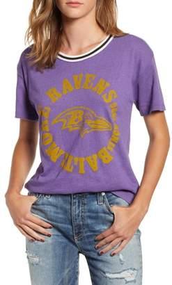 Junk Food Clothing Ravens Kick Off Double Ringer Crewneck Tee