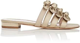 Barneys New York Women's Bow-Embellished Satin Slide Sandals