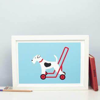 Forever Foxed Dog On Wheels Print