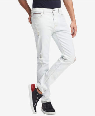 Tommy Hilfiger Men's Slim-Fit Stretch Bleached Indigo Jeans, Created for Macy's