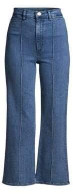 3x1 Nicolette Pintuck Crop Flare Jeans