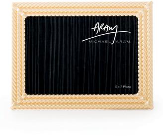 "Michael Aram Twist Picture Frame, Golden, 5"" x 7"""