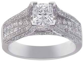 14K White Gold 2.02ct Cushion Cut Diamond Engagement Ring Size 7