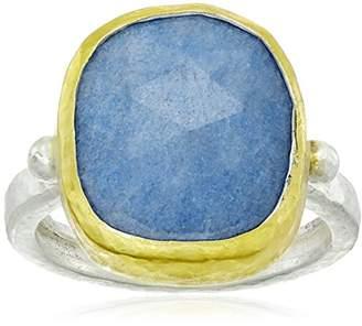 Gurhan Elements Sterling Rose Cut Blue Quartz Ring