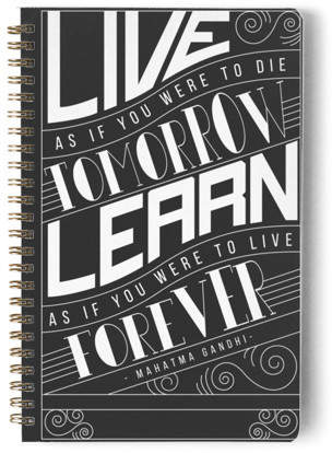 How To Live And Learn Day Planner, Notebook, or Address Book