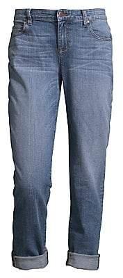 Eileen Fisher Women's Organic Cotton Stretch Boyfriend Jeans