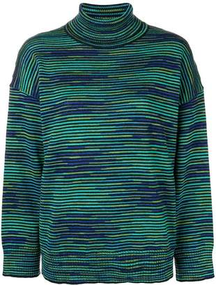 M Missoni striped roll neck sweater