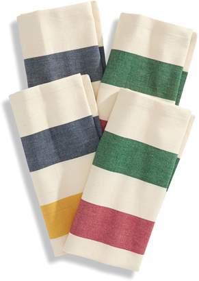HBC Stripes Woven Dinner Napkin Four-Piece Set