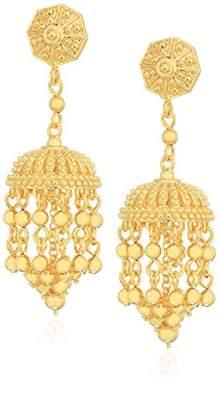 18k Gold Plated Bronze Indian Ethnic Jhumka Earrings