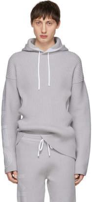 Kenzo Grey Knitted Hoodie