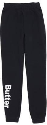 Butter Shoes Solid Fleece Varsity Logo Sweatpants, Size 4-6