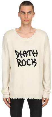 Blend of America Death Rock Embroidery Wool Sweater