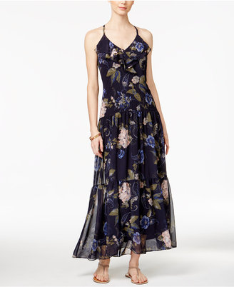 MSK Chiffon Floral-Print Ruffle Maxi Dress $89 thestylecure.com