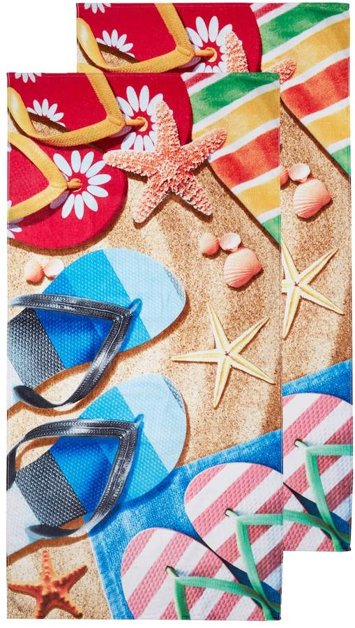 Dohler Sandals Terry Velour Beach Towel (Set of 2)