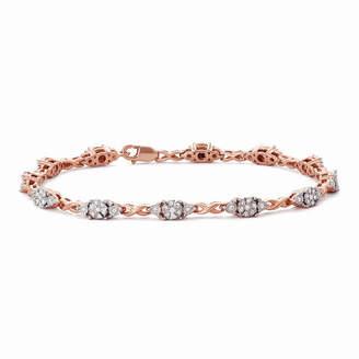 Fine Jewelry Womens 7 Inch 2 CT. T.W. White Diamond 14K Gold Link Bracelet KA1RcWYV7