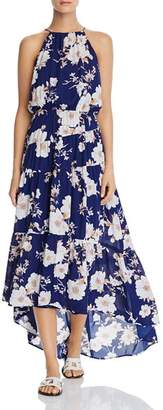 Aqua Tiered Floral High/Low Dress - 100% Exclusive
