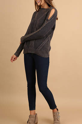 Umgee USA Cutout Knit Sweater
