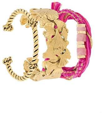 Aurelie Bidermann 'Takayama & tangerine' bracelets