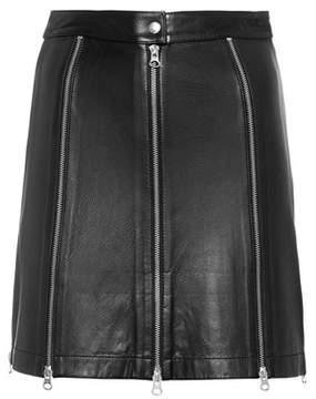 McQ Leather miniskirt