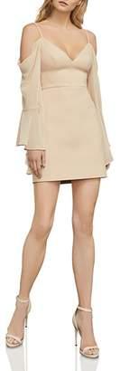 BCBGMAXAZRIA Palm Cold-Shoulder Bell Sleeve Dress