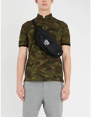 The Kooples Mandarin collar camouflage-print cotton-piqué polo shirt