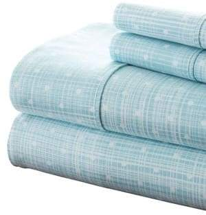 Blissful Bedding Premium Ultra Soft Polka Dot Four-Piece Bed Sheet Set