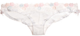 Agent Provocateur Petunia Embroidered Tulle Briefs