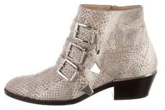 Chloé Snakeskin Susanna Boots