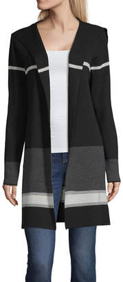 Alyx Womens Long Sleeve Open Front Striped Cardigan