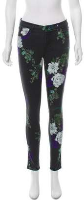 J Brand Patterned Mid-Rise Skinny Jeans