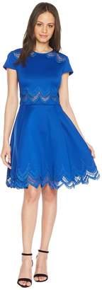 Ted Baker Rehanna Embroidered Cap Skater Dress Women's Dress