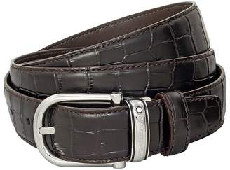 Montblanc Mont Blanc Classic Line Chrome-Tanned Leather Belt 114391