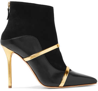 Malone Souliers by Roy Luwolt - Madison Leather And Suede Ankle Boots - Black