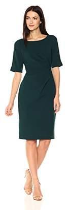 Adrianna Papell Women's Stretch Crepe Side Drape Sheat