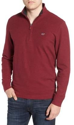 Vineyard Vines Reverse Oxford Quarter Zip Pullover