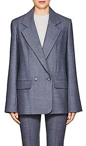 The Row Women's Spreyley Wool-Blend Blazer - Grey Blue Melange