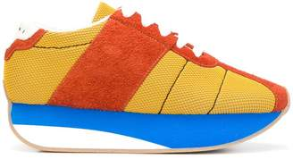 Marni colour block lace-up sneakers