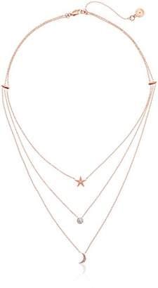 Michael Kors Beyond Brilliant Celestial -Tone 3-Layer Pendant Necklace