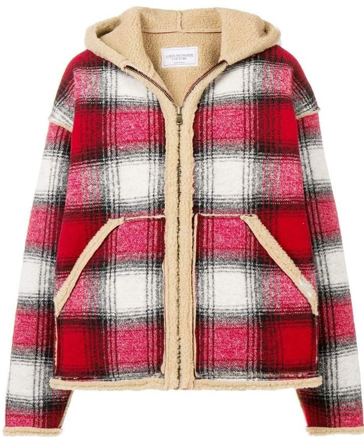 Forte Dei Marmi shearling check jacket
