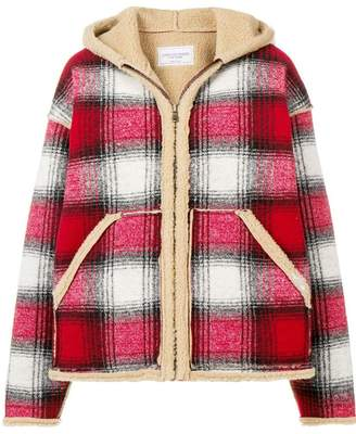 Couture Forte Dei Marmi shearling check jacket