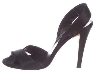Salvatore Ferragamo Satin Slingback Sandals