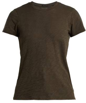 Atm - Slub Cotton Jersey T Shirt - Womens - Dark Green