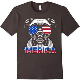 Patriot Boxer Dog T-shirt 'Merica Tee Shirt