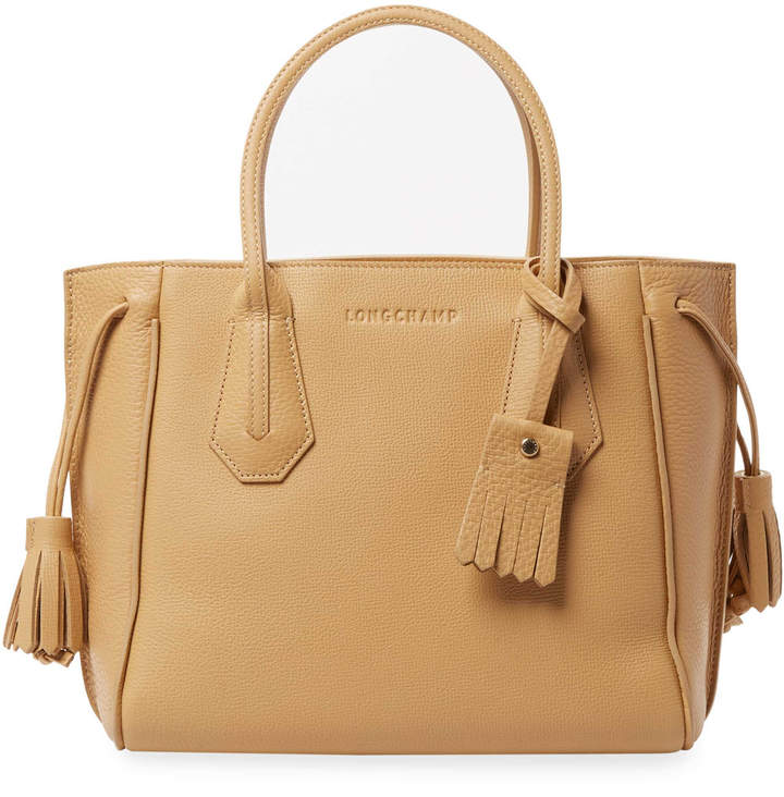 Longchamp Women's Pnlope Small Leather Tote - CREAM/TAN - STYLE