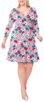 Leota Plus Size Perfect Printed Wrap Dress